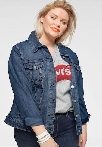 Levi's® Plus Jeansjacke »Boyfriend Trucker«, in klassischer Form kaufen