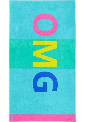 Seahorse Strandtuch »OMG«, (1 St.), mit Grossbuchstaben kaufen