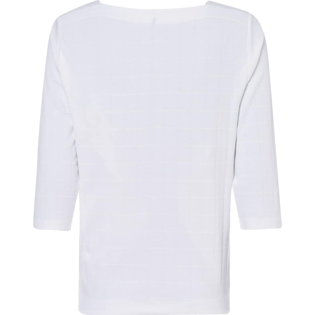 Olsen T-Shirt, mit Strukturmuster in Karo