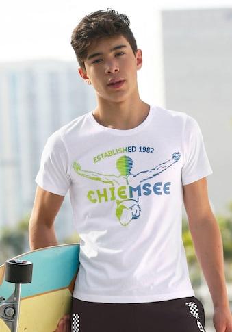 Chiemsee T-Shirt, mit samtigem Druck kaufen