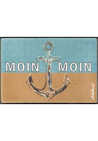wash+dry by Kleen-Tex Fussmatte »Moin Moin«, rechteckig, 9 mm Höhe, Schmutzfangmatte,... kaufen
