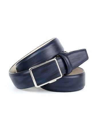 Anthoni Crown Ledergürtel, in angesagter Marineblau Farbe kaufen