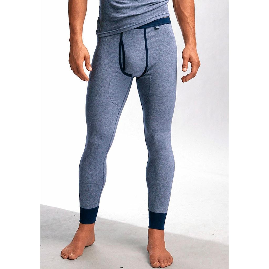 Clipper Exclusive Lange Unterhose, modische Optik: Jeans meliert, tolle Qualität