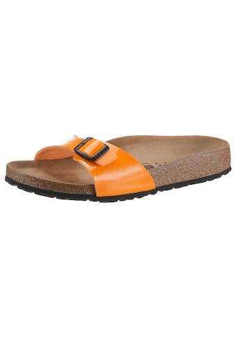 Birkenstock Pantolette »Madrid Patent«, mit vorgeformtem Fussbett, schmale Schuhweite kaufen