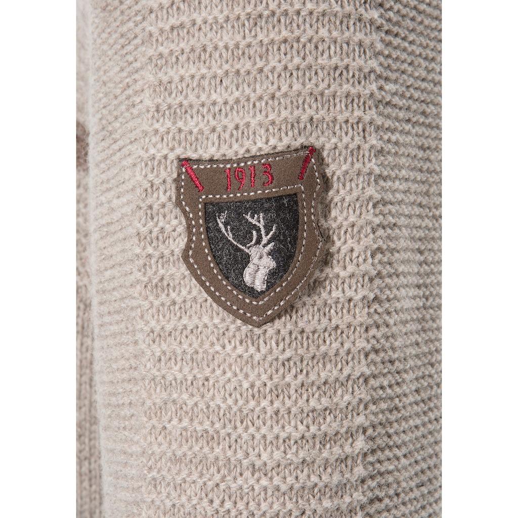 Spieth & Wensky Trachtenstrickjacke, mit abknöpfbarer Kapuze