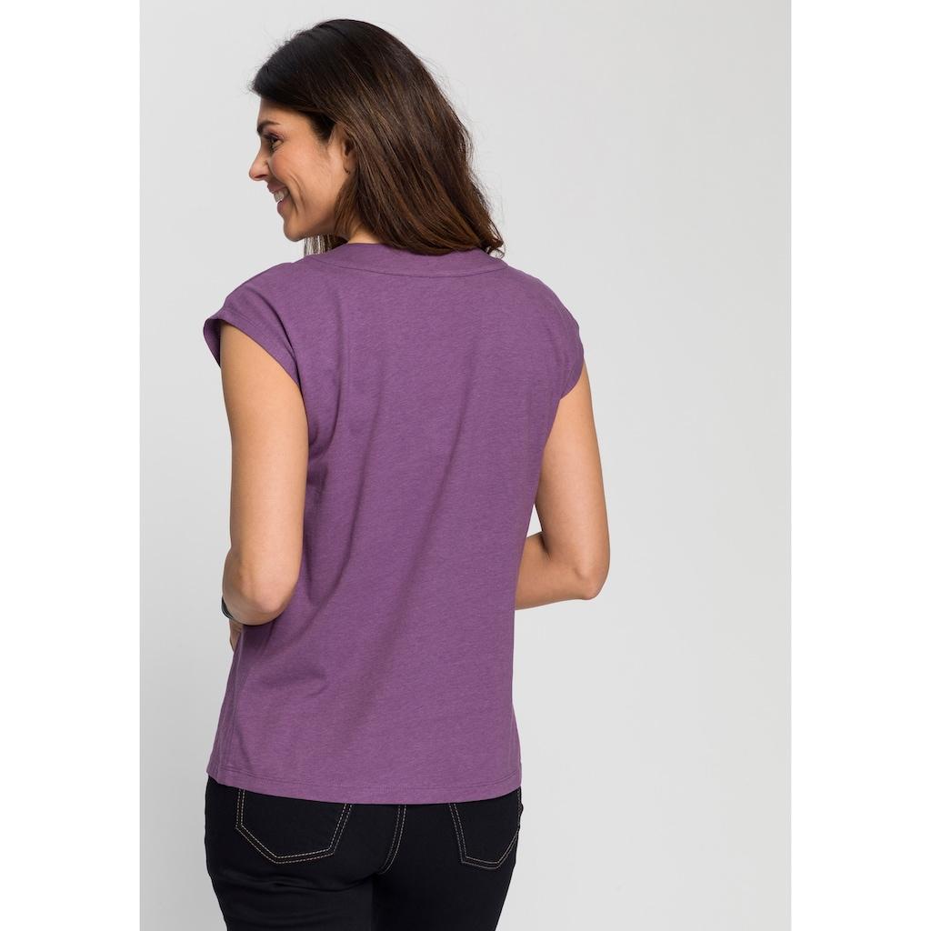 Boysen's V-Shirt, mit grossen Knöpfen