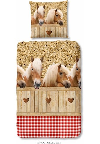 good morning Kinderbettwäsche »Haflinger«, mit Pferdemotiven kaufen
