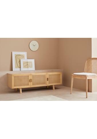 LeGer Home by Lena Gercke Lowboard »Lina«, Mit Rattan Einsatz, 4 Innenfächer, teilmassiv kaufen
