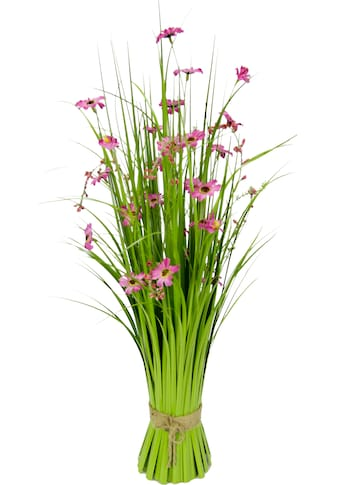 I.GE.A. Kunstgras, Grasbund mit Blüten kaufen