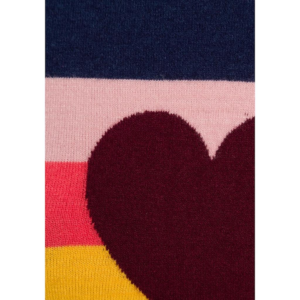 AJC Strickpullover, mit Herz und Streifen