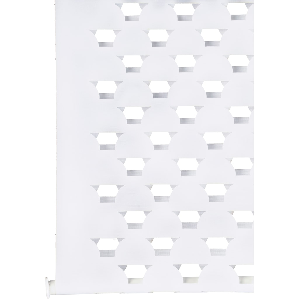 GARDINIA Doppelrollo »EASYFIX Duo Rollo Cut-Out Kreis«, Lichtschutz, ohne Bohren, im Fixmass