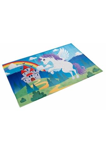 Böing Carpet Kinderteppich »Lovely Kids 401«, rechteckig, 6 mm Höhe, Motiv Einhorn kaufen