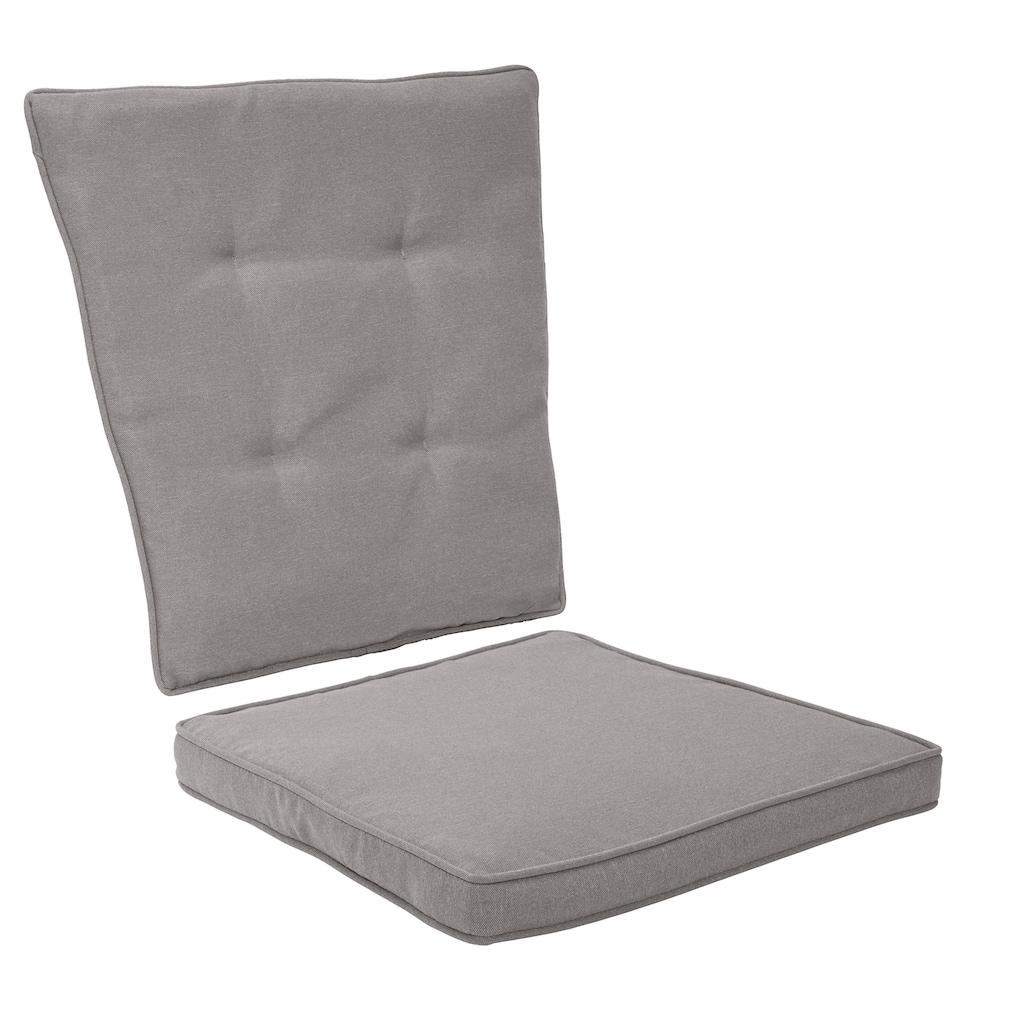 KONIFERA Gartenmöbelset »Mailand«, (7 St.), 2 Sessel, Tisch Ø 5 cm, Polyrattan