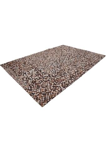 Lederteppich, »Patchwork 850«, LALEE, rechteckig, Höhe 8 mm kaufen