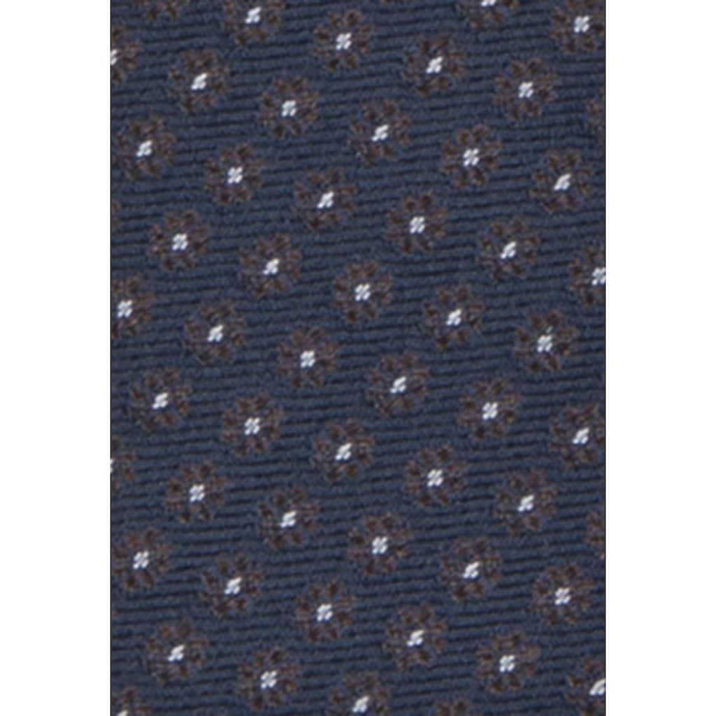 seidensticker Krawatte »Schwarze Rose«, Breit (7cm) Floral