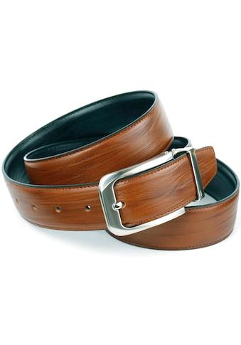 Anthoni Crown Ledergürtel, Wendegürtel in cognac und schwarz kaufen