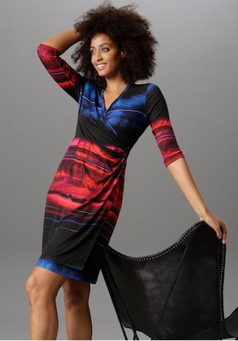 Aniston SELECTED Wickelkleid, im trendigen Farbverlauf kaufen