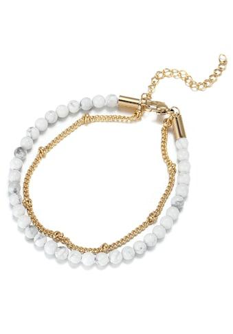 Firetti Fusskette »mehrreihig, elegant, glänzend, massiv«, mit Türkis kaufen
