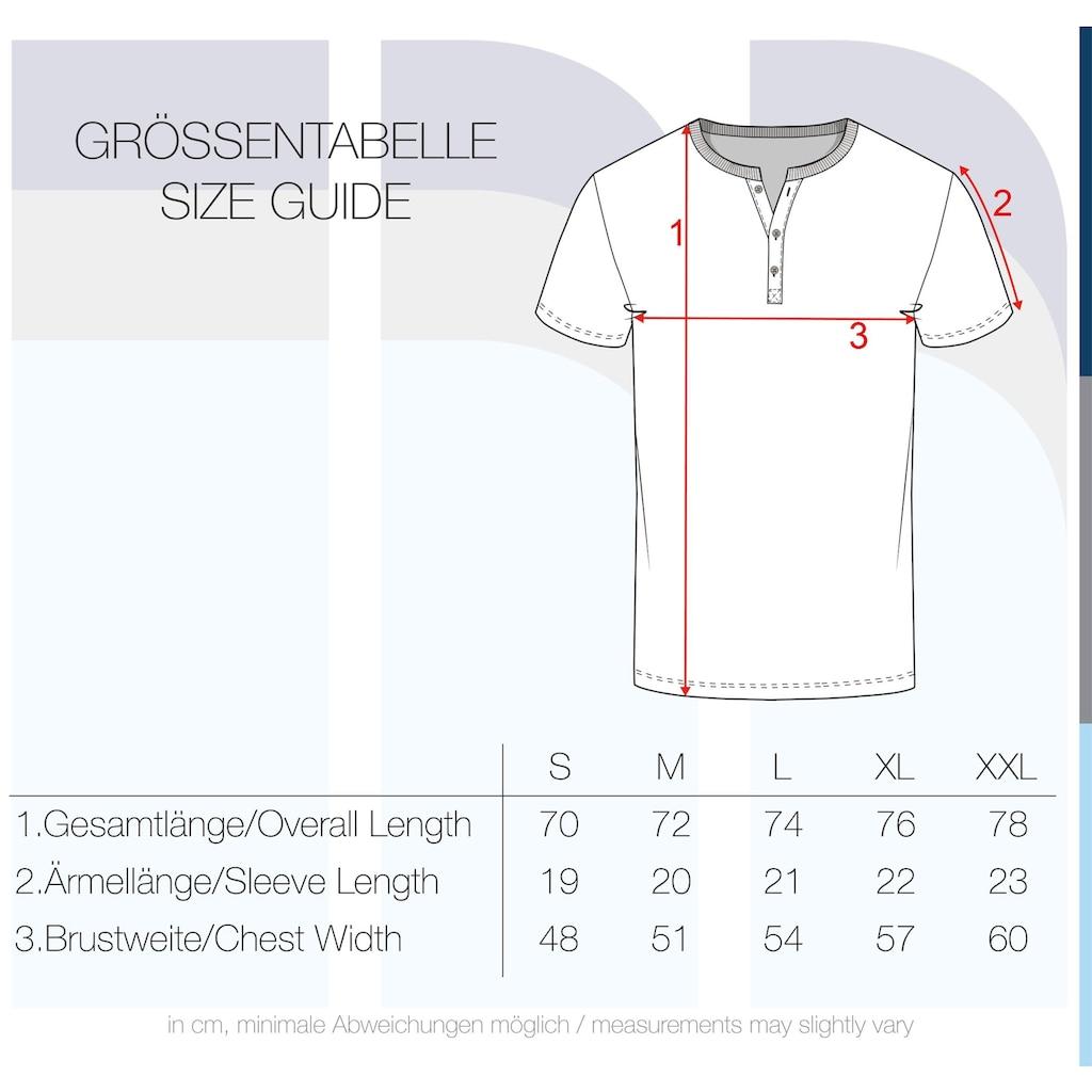 Solid Rundhalsshirt »Volker«, Kurzarmshirt mit Knopfleiste