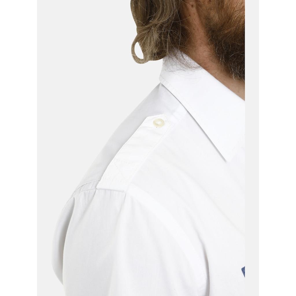 Jan Vanderstorm Kurzarmhemd »LOKE«, Schulterpatten, Comfort Fit