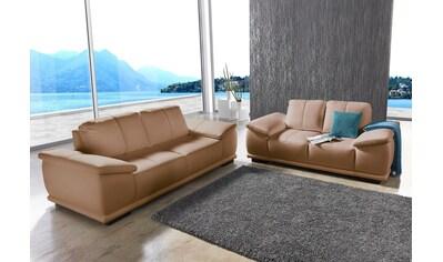 sit&more Polstergarnitur, bestehend aus 2,5-Sitzer + 3-Sitzer, mit extrabreiten Armlehnen kaufen