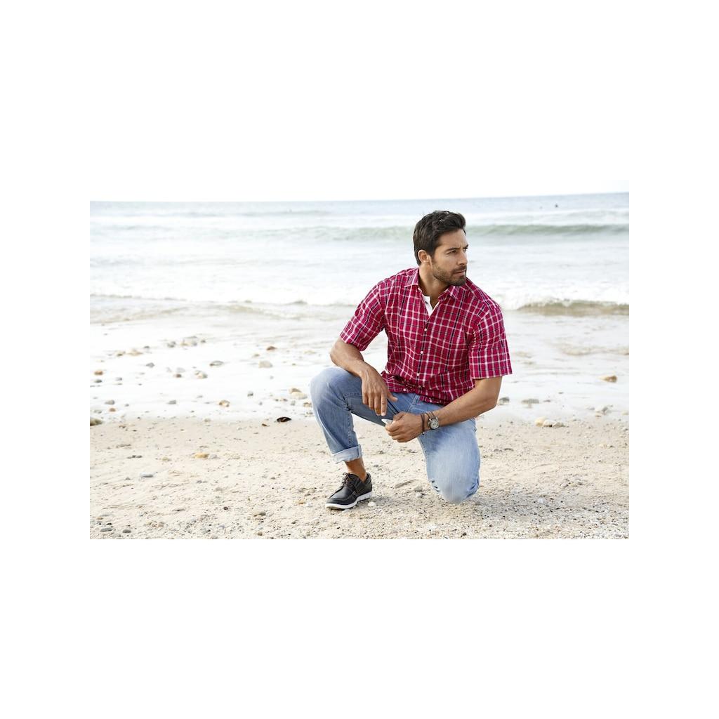 Jan Vanderstorm Kurzarmhemd »FEELIKS«, aus luftigem Seersucker