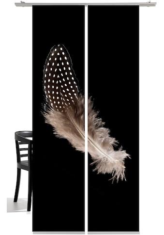 emotion textiles Schiebegardine »Feder«, HxB: 260x60, mit Befestigungszubehör kaufen