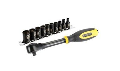 STANLEY Werkzeugset »Ratsche Rotator mit Steckschlüsseln 1/4'', 11-teilig« kaufen