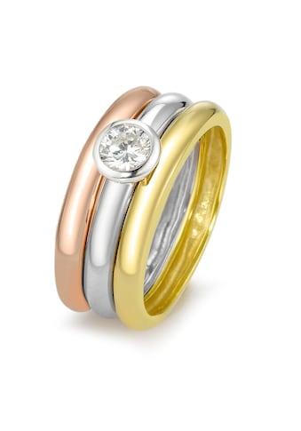 Ringe 925 dreifarbig kaufen