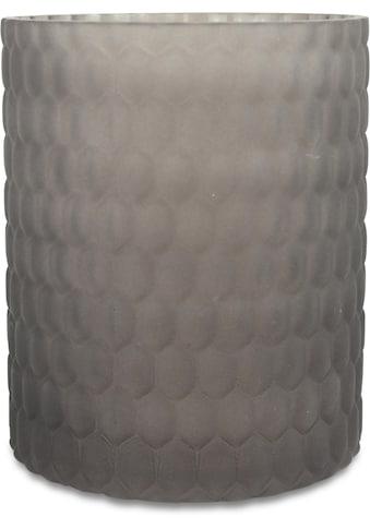 Windlicht, aus Glas, mit Wabenstruktur kaufen