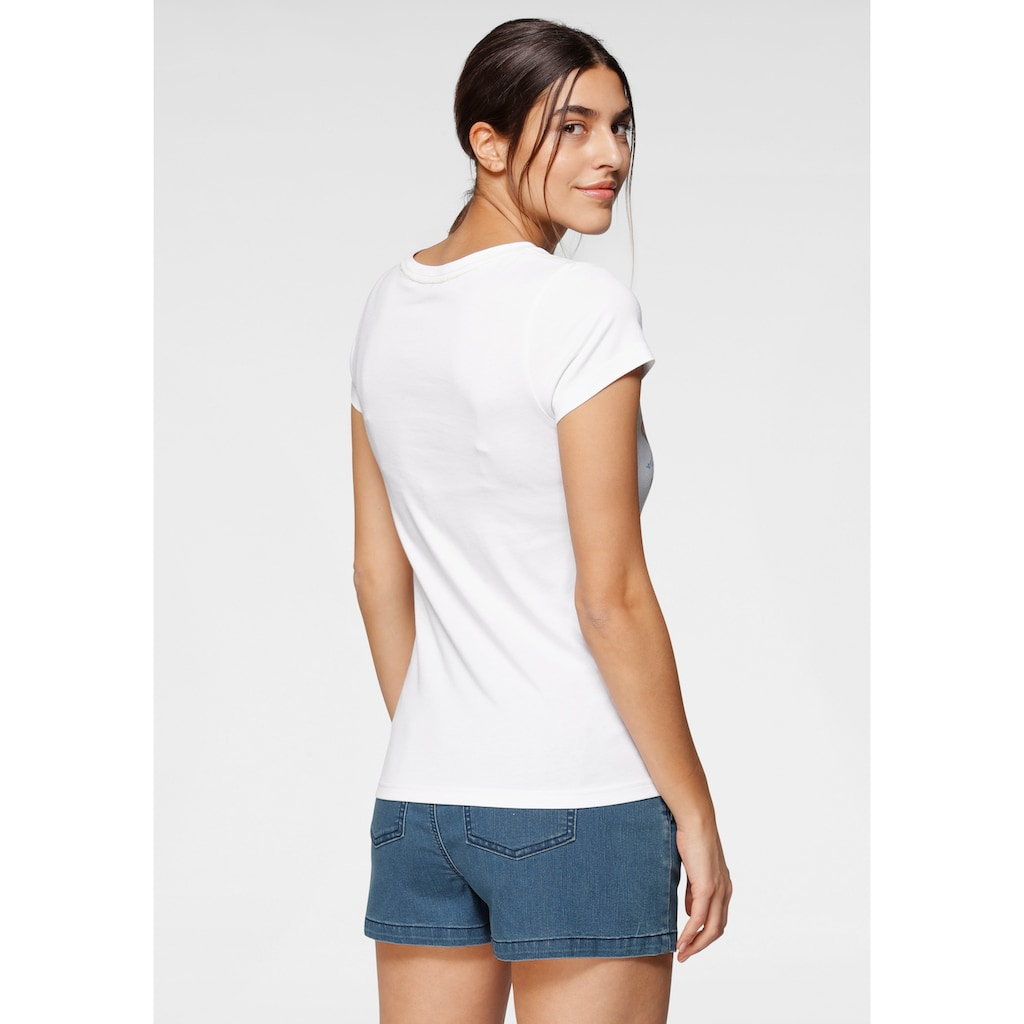 TOM TAILOR Polo Team T-Shirt, mit coolem Front-Druck im California-Style