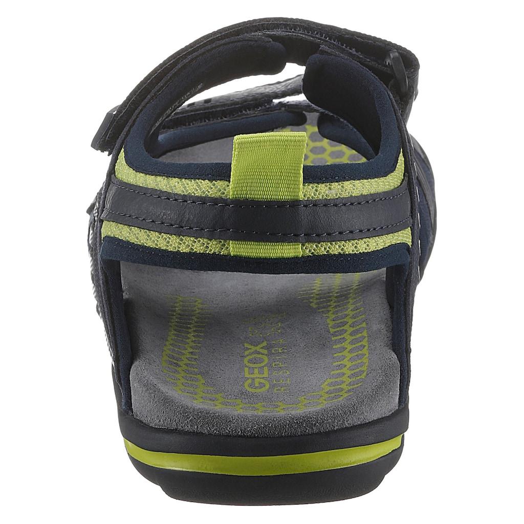 Geox Sandale »TEVERE«, mit praktischen Klettverschlüssen