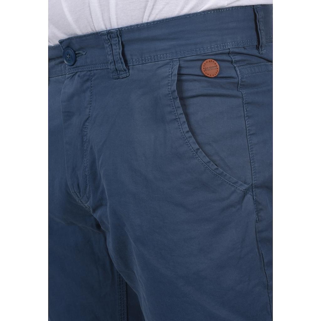 Blend Chinohose »Tromp«, lange Hose mit Lederapplikationen an der Tasche