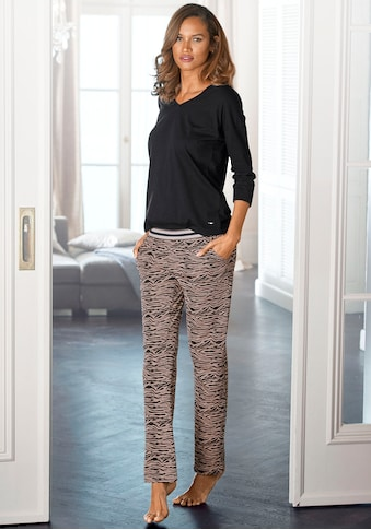 s.Oliver Bodywear Pyjama, lange Hose mit Animal-Print kaufen