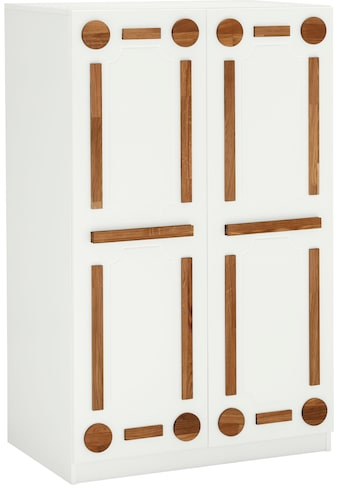 Places of Style Computerschrank »Rami«, aus MDF kombiniert mit Eiche massiv,... kaufen