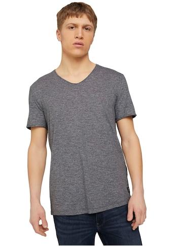 TOM TAILOR Denim T-Shirt, mit V-Ausschnitt kaufen