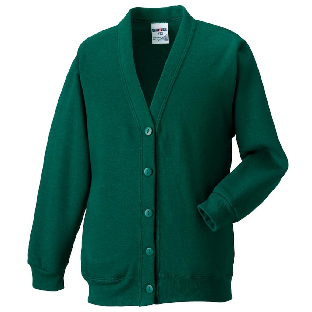 Russell Sweatjacke »Workwear Strickjacke / Sweatshirt-Jacke mit V-Ausschnitt«
