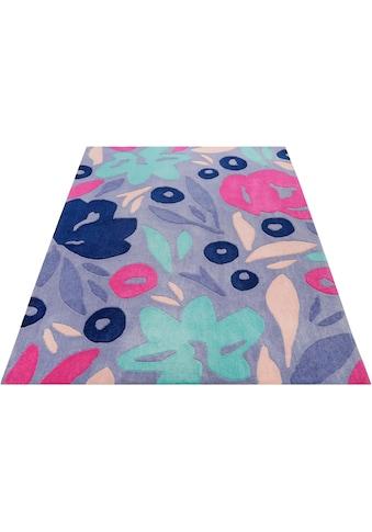 Esprit Teppich »Flower Capsul«, rechteckig, 9 mm Höhe, Konturenschnitt, Wohnzimmer kaufen
