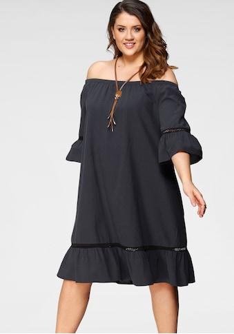 Zizzi Jerseykleid, Mit Volants am Saum und den Ärmeln kaufen