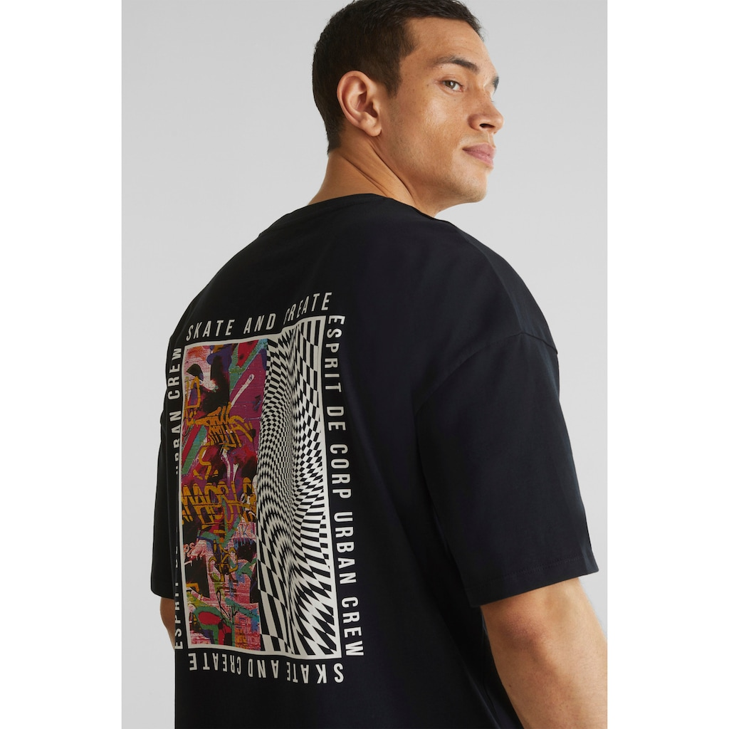 edc by Esprit T-Shirt, mit coolem Rückenprint