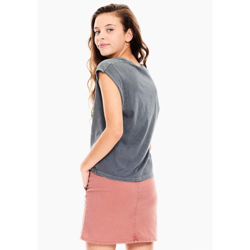 Garcia T-Shirt, in kastiger Kurzform