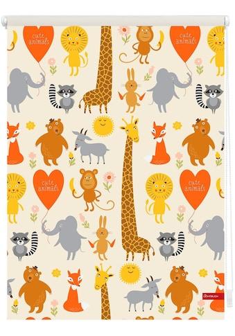 LICHTBLICK ORIGINAL Seitenzugrollo »Klemmfix Digital Cute Animals«, verdunkelnd,... kaufen