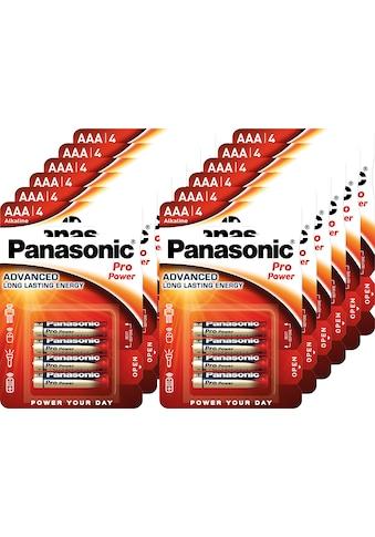 Panasonic Batterie »Batterie Alkaline, Micro, AAA, LR03, 1.5V, Pro Power, Retail... kaufen