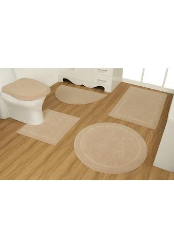 GOODproduct Badematte »Rimma«, Höhe 14 mm, strapazierfähig, aus recycelter Baumwolle kaufen