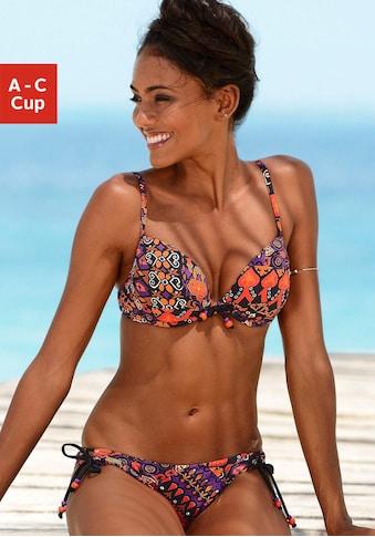 LASCANA Push-Up-Bikini, mit schönem Druckdesign mit Zierperlen kaufen