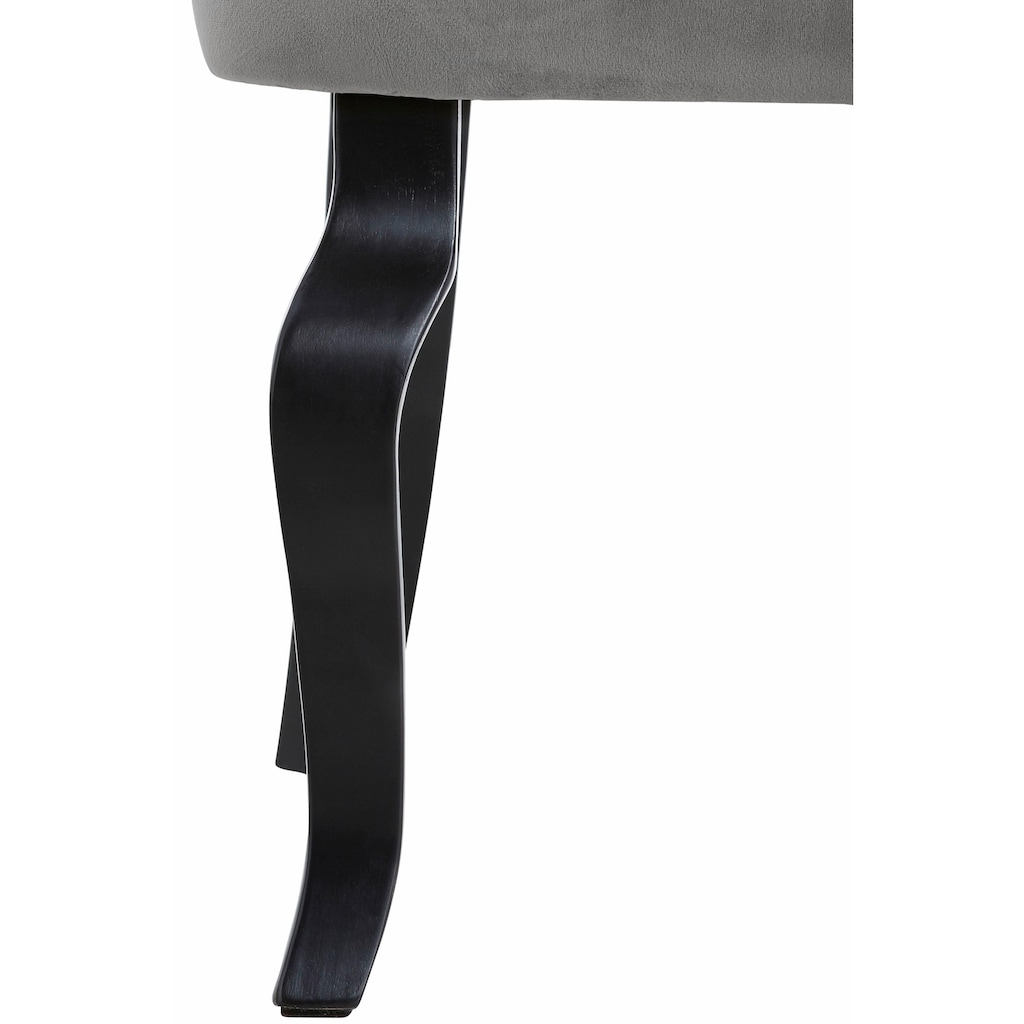 Home affaire Sessel »Beatrix«, mit Knopfheftung im Rücken und einem schönen Kederschwung