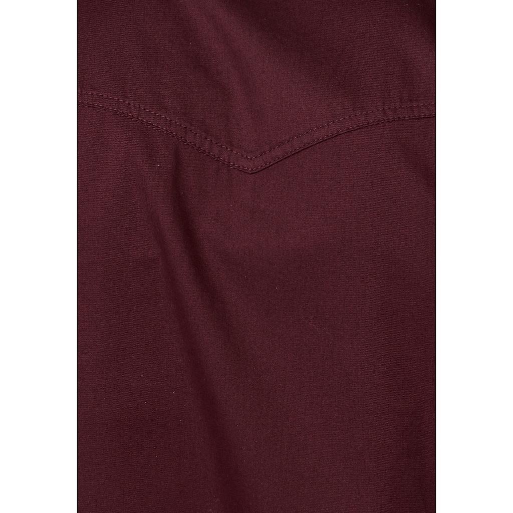 Arizona Langarmhemd, im Western-Stil
