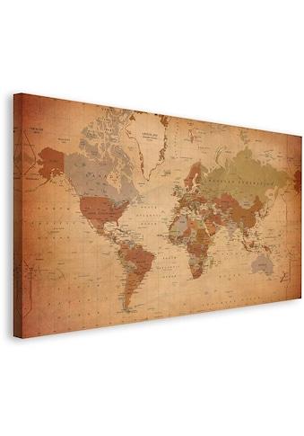 Premium collection by Home affaire Leinwandbild »Weltkarte Antik  -  Englisch« kaufen