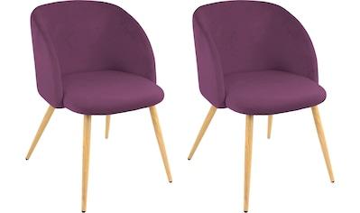 Armlehnstuhl »Dali«, (2 oder 4 Stück), mit Veloursbezug und in 2 Gestellfarben kaufen