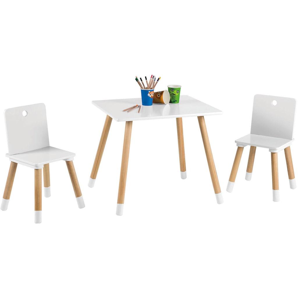 roba® Kindersitzgruppe »Kindersitzgruppe, weiss«, (3 tlg.)
